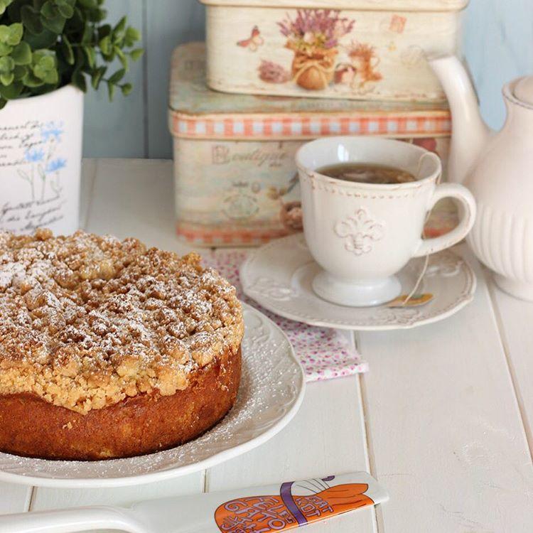 La mejor receta de apple crumble cake Perfecto y delicioso!hellip