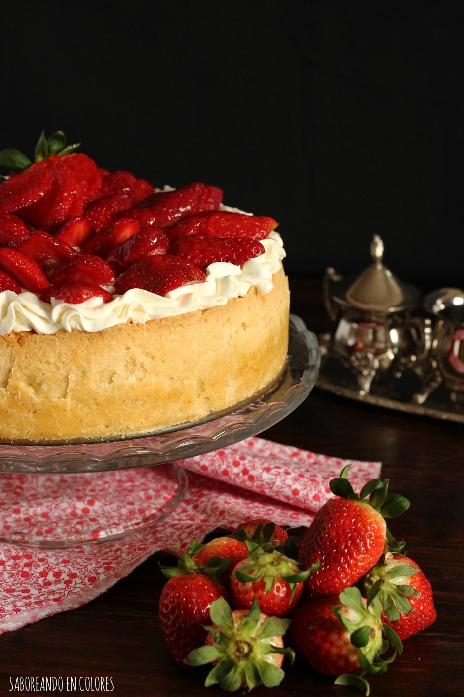 cheesecake-fresas-y-nata