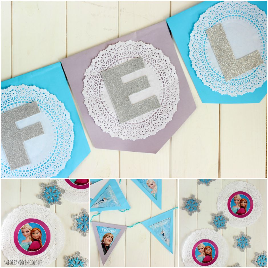 frozen decoracion collage
