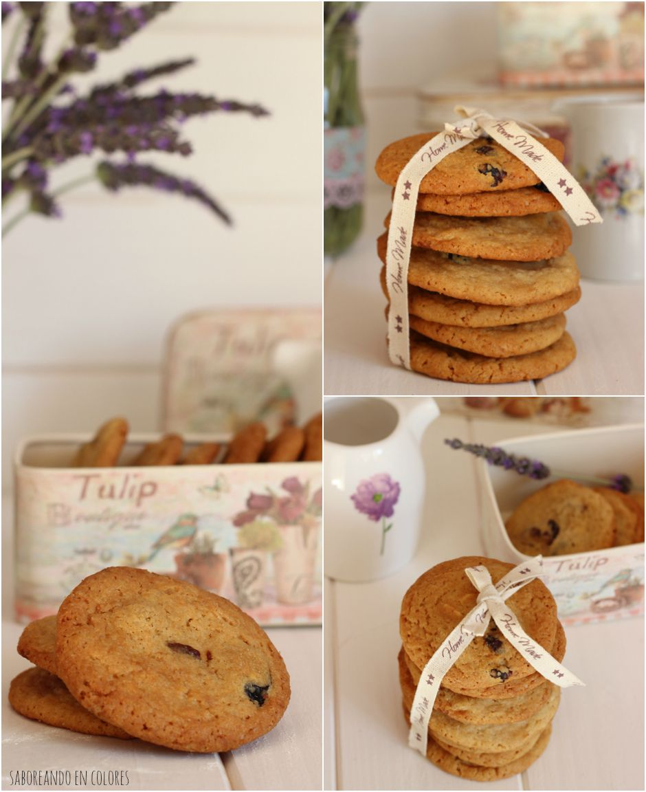 galletas choco blanco y arandanos collage