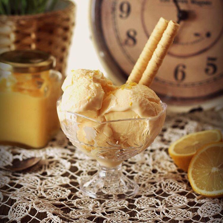 Este Helado de lemon Curd es impresionantemente rico! httpsaboreandoencolorescom201608heladodelemoncurd