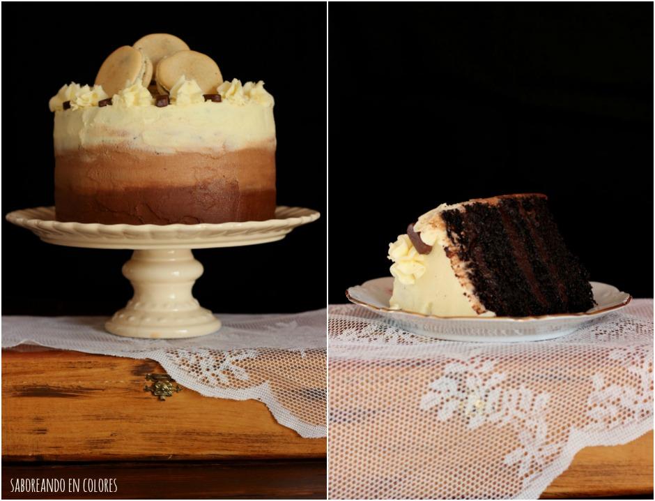 ombre cake de chocolate Collage