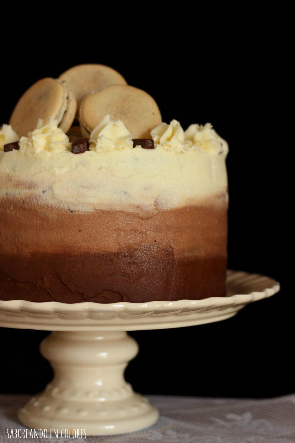ombre cake de chocolate
