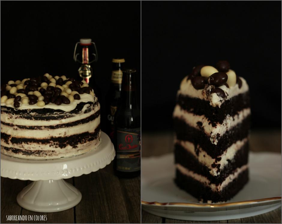 tarta cerveza negra Collage